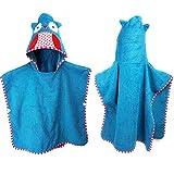 Badeponcho Kinder,Kinderhandtuch mit Kapuze - 1-8Jahren - Strandtuch kinder Poncho Cape Mehrzweck für Bad/Dusche/Pool/Schwimmen