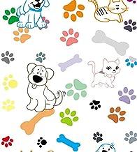 Papel De Parede Animal Gatos E Cachorros Moderno Decorativo PVC Vinil Adesivo 3,00 Metros Autocolante Papel De Parede Adesivo