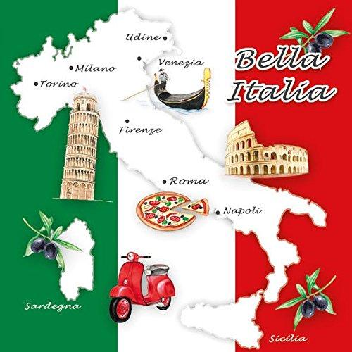 Ambiente Tovaglioli 33 x 33 cm pranzo/festa Bella Italia