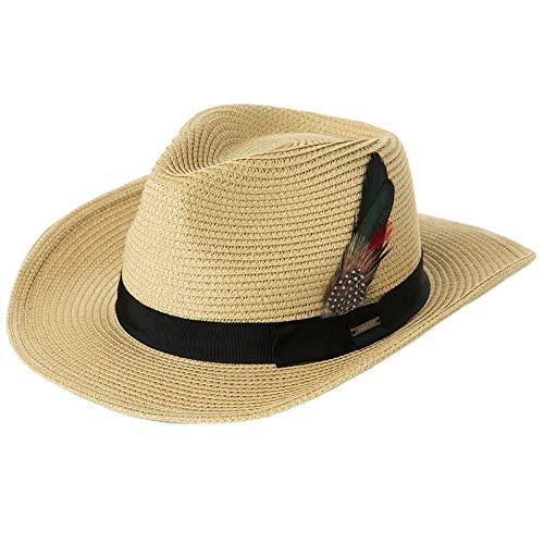 Comhats Verano Panamá para Hombre Plegable Fedora Trilby Paja Sombreros de Sol...
