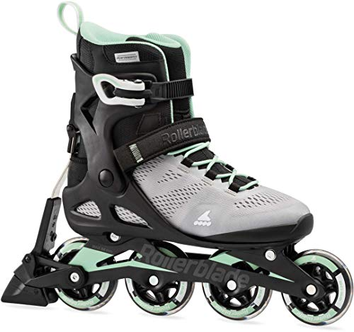 Rollerblade Damen MACROBLADE 80 ABT W Inline-Skate, Gletscher GRAU/NEO Mint, 255