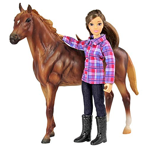 Breyer Freedom Series (Classics) Western Horse & Rider Doll Set | (1:12 Scale) | Model #61116,Multicolor