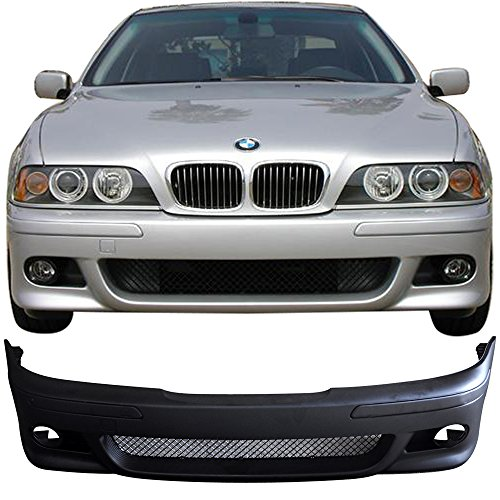 Front Bumper Cover Compatible With 1996-2003 BMW E39, 5 Series 525i 530i 540i M5 PP Front Bumper Conversion Guard Without Lamp by IKON MOTORSPORTS, 1997 1998 1999 2000 2001 2002