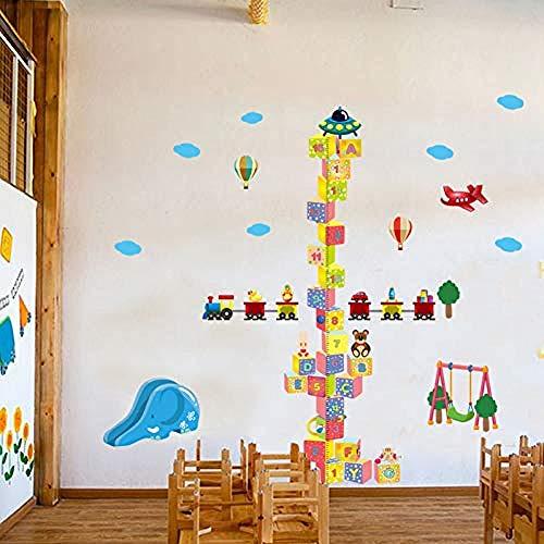 Cartoon Baustein Höhe Aufkleber Pvc Wandaufkleber Für Kinderzimmer Dekoration Vinyl Wall Paper Persönlichkeit Art Decal