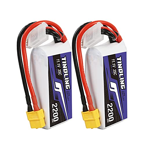 TINDLING Superior Series Lipo Battery,11.1V 2200mAh 3S 35C Lipo...