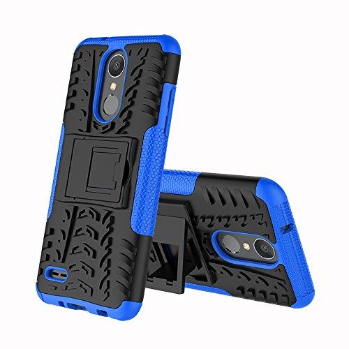 CMID LG K9 Hülle, LG K8 (2018) Hülle, Tough Rugged Handytasche [Heavy Duty] [Nicht-Skid] Dual Layer Hard PC und TPU Silikon Gummi Defender Schutzhülle Hülle Cover für LG K9 / LG K8 (2018) (Blau)