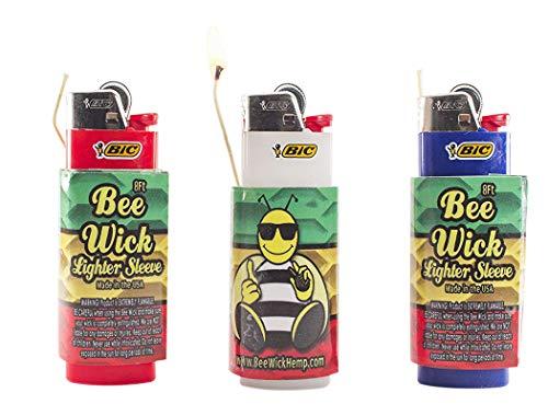 Bee Wick Hemp Wick Dispenser/Lighter Sleeve 3 Pack! (8 FT Each)