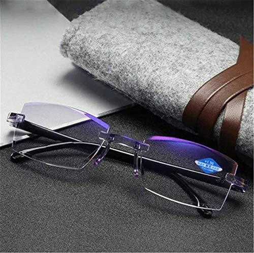 Hohe Härte Anti-Blau Progressiv Fern und Nah, Dual-Use-Lesebrille, Progressive Multifokus-Computer-Lesebrille Blaulichtblockierung (+2.0)