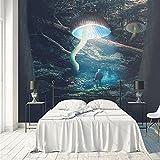 Papel tapiz fotográfico Luz de seta surrealista de la jungla 150x105 cm - 3 Strips Papel pintado tejido no tejido Decoración De Pared Sala Cuarto Oficina Salón 3D Fotomurales