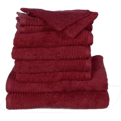 Dyckhoff Brillant 410991715 - Set 10 asciugamani (4 asciugamani, 2 teli da doccia, 2 asciugamani ospite, 2 guanti da bagno)