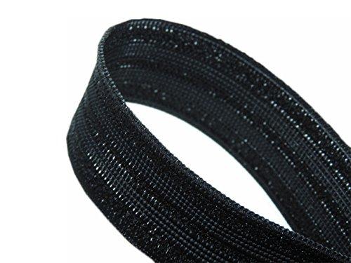 Merceries83 elastisch Spezial Unterhose 25mm–schwarz Meterware