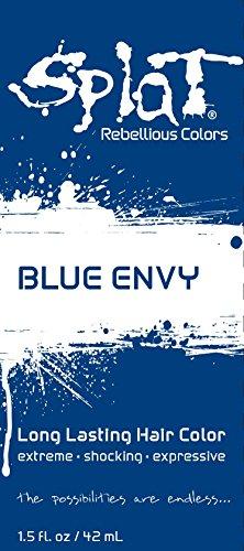 Splat | Blue Envy | 1.5 oz. Foil Pack | 30 Wash | Semi-Permanent Blue Hair Dye