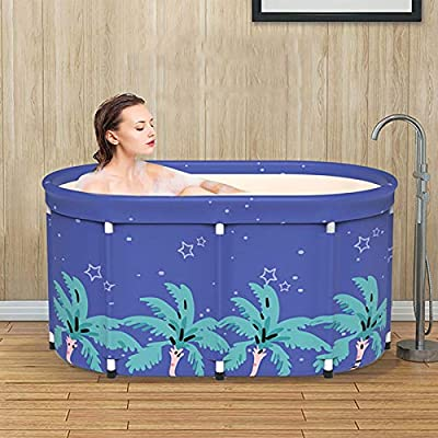 zitong Portable Foldable Bathtub, Foldable Soaking Bathing Tub for Adults, 80-100cm Separate Family Bathroom SPA Tub, Soaking Standing Bathtub, Ideal for Hot Bath Ice Bath