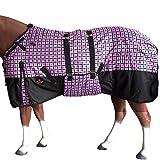 HILASON 84' 1200D Winter Waterproof Horse Blanket Belly Wrap Plaid