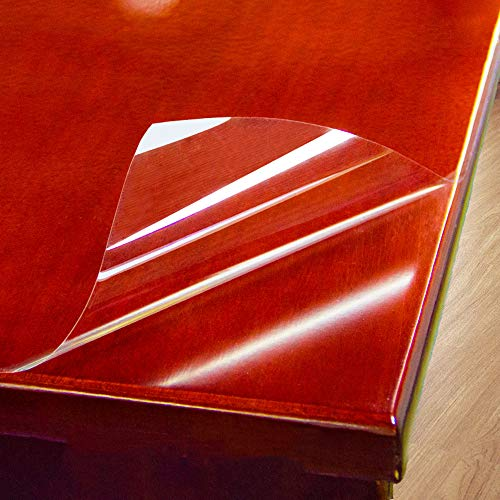 HOHOFILM Protector de Mesa Autoadhesivo para Muebles, Transparente, fácil de Limpiar, Resistente a Altas temperaturas, para encimera de mármol, Mesa de café, 152 cm x 50 cm