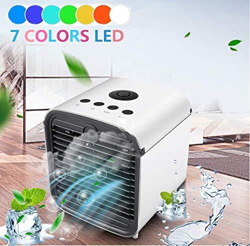 Miaogo 3in1 Mini Air Cooler Luftkühler | Luftbefeuchter | Luftreiniger | 3 Leistungsstufen | Klimagerät leise (Weiß)