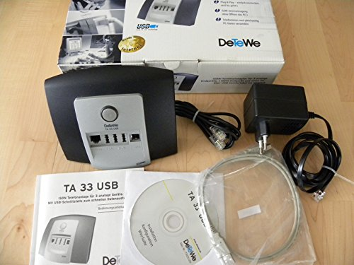 DeTeWe TA 33 USB Terminaladapter/Umwandler für ISDN/analog Endgeräte
