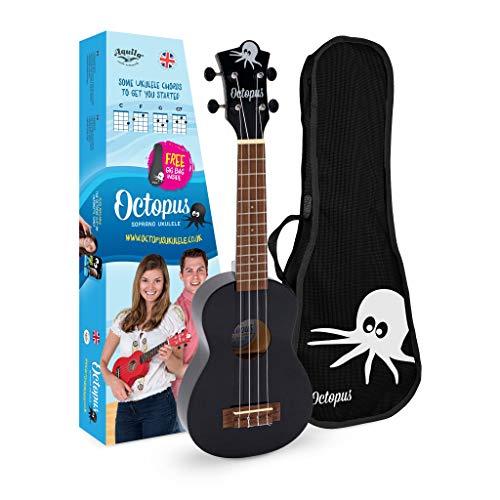 Ukelele soprano Octopus en negro, Full