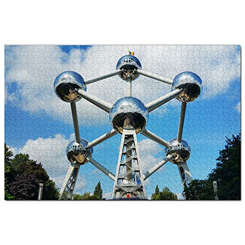 Atomium de Bélgica Puzzle 1000 Piezas para Adultos Familia Rompecabezas Recuerdo Turismo Regalo