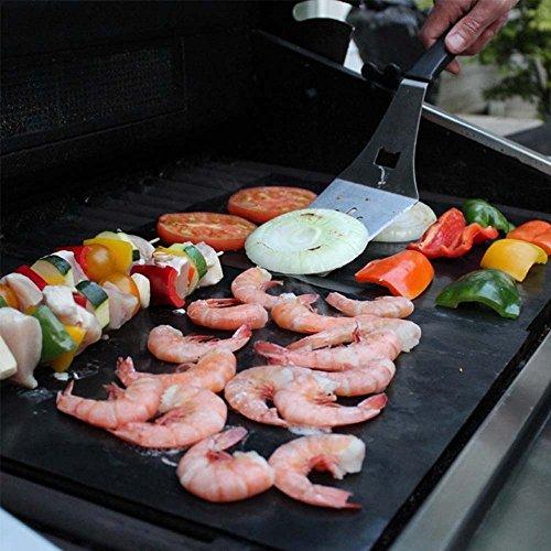 BBQ Grill Mat Set of 5 - Reusable, Durable, Heat Resistant Non-Stick Mats