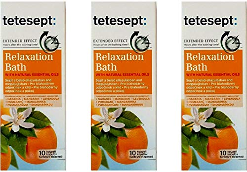 tetesept Badeöl,Entspannungsbad,mit Orangen & Mandarinenöl, 125 ml (3er Pack)