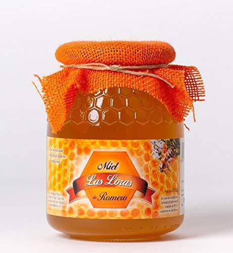 Miel espagnol de romarin naturel - 6 pots en verre de 1 kg