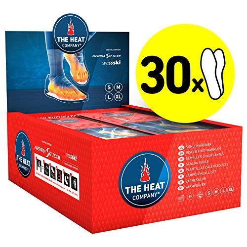 THE HEAT COMPANY Sohlenwärmer - 30 Paar - EXTRA WARM - Wärmesohlen - Fußwärmer - 8 Stunden warme Füße - sofort einsatzbereit - luftaktiviert - rein natürlich - Größe SMALL: 36-38