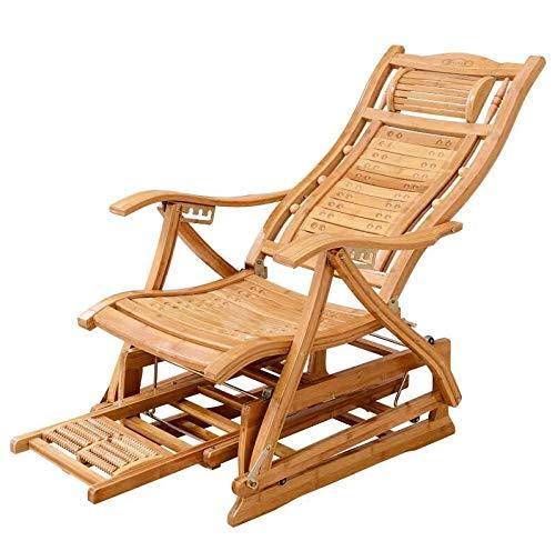 Decorazioni per la casa Moderna Bamboo Docking SED Sedia Adulti Glider Rocker Natural Bamboo Mobili for Salotto da Interno Sedia Poltrona Poltrona Poltrona for Anziani