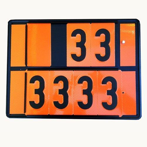 Adr Panel naranja con números intercambiables. 30x40cm. (envío gratis)