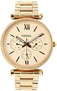 Fossil Women's ES4542 Carlie Multifunction Rose Gold Stainless Steel Watch