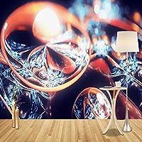 mzznz カスタム大壁紙壁画ヨーロッパ抽象フラクタルダイヤモンド曲線リビングルームの寝室の背景壁紙壁画-150X120Cm
