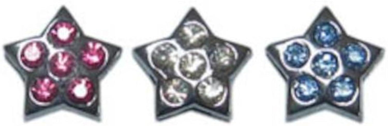 3 8  Slider Star Charm Clear 3 8