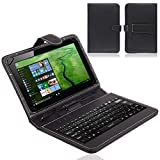 NAUC Tablet-Tasche-USB-Tastatur-Keyboard Odys Rise 10 / Space 10 Plus 3G Hülle Cover
