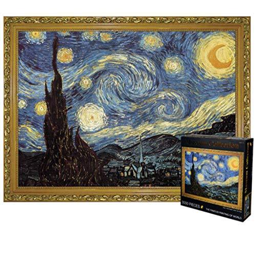 Puzzle Classico, 3000 pezzi di puzzle for adulti bambini - Notte stellata di Vincent Van Gogh Robusto e facile