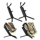 Yi-Achieve 2020 Adjustable Tripod Tenor Alto Sax Stand Support Rack Music Instrument Wind Tube Horn Metal Rack Parts Accessories (Color : Alto Soprano)