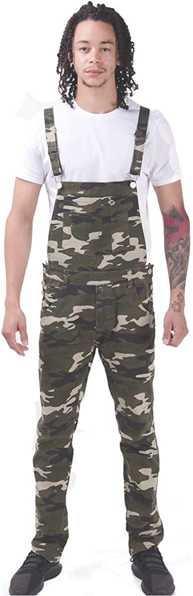 Burton Mens Skinny Fit Bib Ranking New product!! TOP14 Jean Green Camouflage Overalls Brown