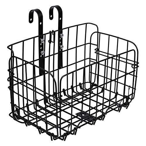 tyrrdtrd - Cesta Plegable para Bicicleta (Metal, Ajustable, Gran Capacidad)
