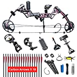 XGEEK Compound Bow,Compound Hunting Bow Kit,Limbs Made in USA,19'-30' Draw Length,19-70Lbs Draw Weight,Up to 320FPS, (2 Years Warranty)