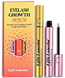 Image: Eyelash Growth Serum Set of 2 for Natural Lash Thrive Enhancer Cosmetics | Lash Accelerator Eyebrow Booster to Thicker, Stronger, Longer, Healthier, Eyelash Extension Kits | Gift for Mom(6ml x 2) | by Effie Lancelot