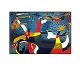 RLJHG Joan Mir Lienzo Pintura Hirondelle Amour Abstracto HD ImpresióN Arte De La Pared Cuadros Famosa Poster para La Salon De Estar Decoracion del Hogar Decoracion De La Pared 40x50cm Sin Marco