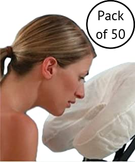Fitted Disposable Face Cradle Massage Table or Chair Covers Pack of 50