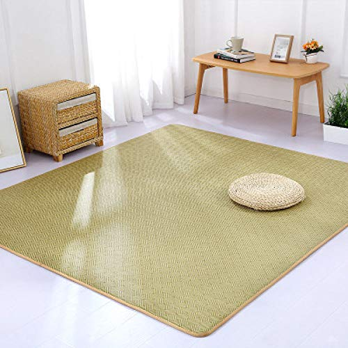 SDFJKONew Summer Rattan Mat Carpet Thick Anti-slipTatami Living Room Bedroom Children's Rrawling Home MatS Big Rug,C,150cm 200cm