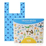 Dog Poop Bag Biodegradable Dog Waste Bags with Easy-Tie Handles, Extra Thick and Strong Leak-Proof Poop Bags for Dogs and Cat Scoops (Easy-tie Handle 100pcs)