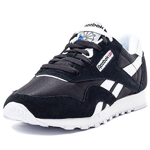 Reebok Classic Nylon, Zapatillas de Running para Mujer, Negro (Black / White), 39 EU
