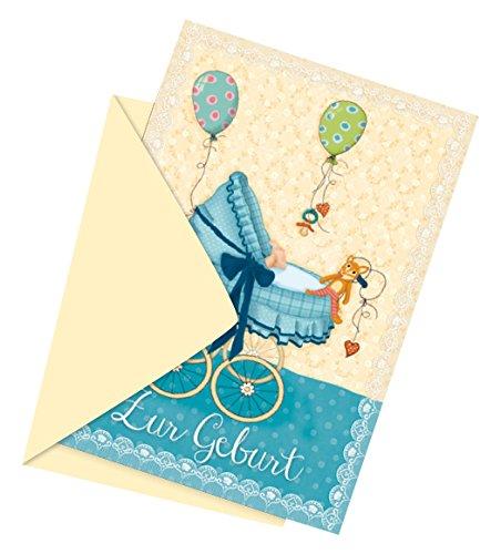 Lutz Mauder Lutz mauder27726TapirElla Kinderwagen Boy Geburt Grußkarte