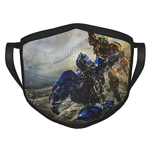 ZChun Bumblebee Vs Optimus Prime Transformers Adult Black Border Ma-sk, Portable Face Protection,Bandana,Elastic Edge,Balaclava