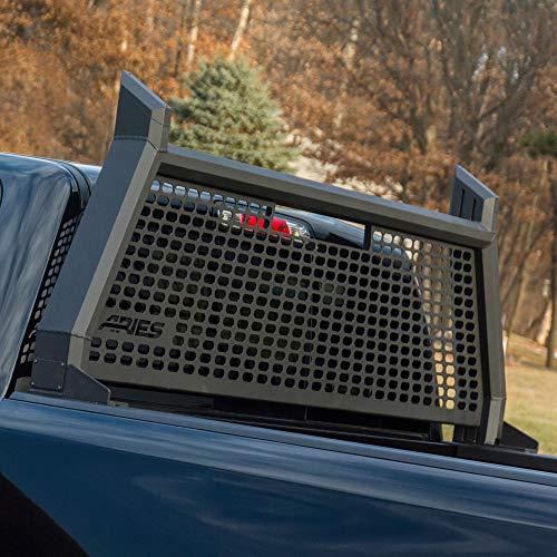 ARIES 1110104 AdvantEDGE Black Aluminum Truck Headache Rack Cab Protector, Select Chevrolet Silverado, GMC Sierra 1500, 2500, 3500 HD
