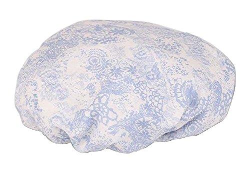 Bonnet de douche multifonction double couche, fleur-4