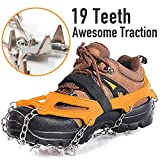 Spike Crampons Ice Grippers Ice Traction Cleats 19 Teeth Walk Crampons Track Run