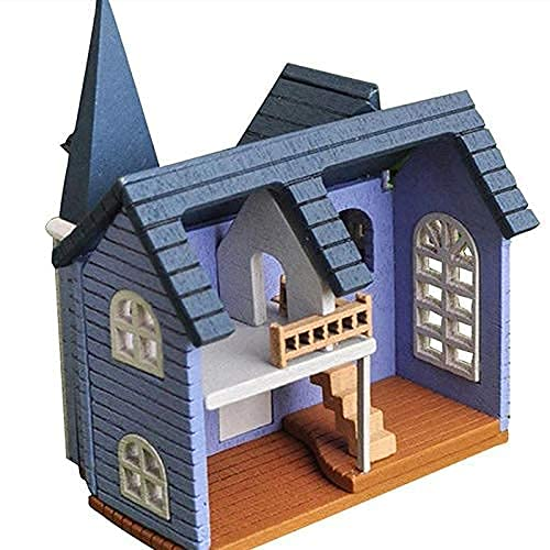 LZZB DIY dockhus sagostad mini trädockor miniatyrtillbehör hantverk byggande montering leksak hantverk möbelkit